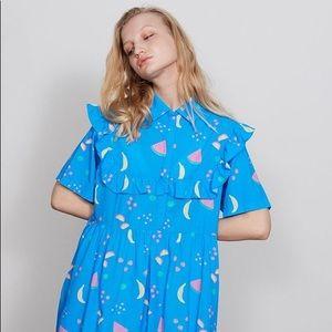 NET Lazy Oaf Ruffle Fruity Frills Dress size S